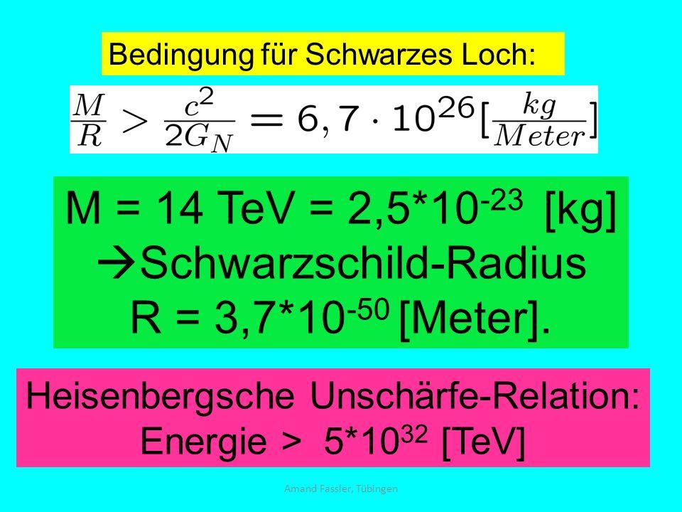 Schwarzschild-Radius R = 3,7*10-50 [Meter].